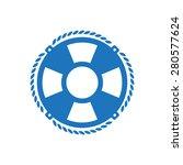 life belt symbol  isolated on...   Shutterstock .eps vector #280577624