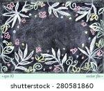 aloha hawaii. chalkboard... | Shutterstock .eps vector #280581860