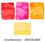 set of warm colorful hand drawn ... | Shutterstock .eps vector #280581884
