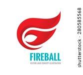 fireball   vector logo template ... | Shutterstock .eps vector #280585568