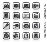 multimedia and technology icons ... | Shutterstock .eps vector #280586576