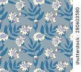 floral seamless pattern  eps 8   Shutterstock .eps vector #280603580