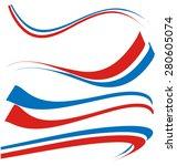 france flag set isolated on... | Shutterstock .eps vector #280605074