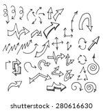 vector hand drawn arrows set... | Shutterstock .eps vector #280616630