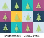 christmas icons set with...   Shutterstock .eps vector #280621958