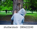 a suspicious character wearing... | Shutterstock . vector #280622240