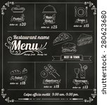 restaurant food menu design... | Shutterstock .eps vector #280623680