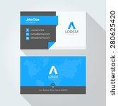 flat blue a letter logo...   Shutterstock .eps vector #280625420