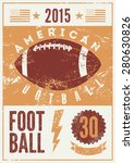 American Football Typographical ...