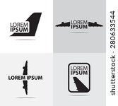 four different air plane logo... | Shutterstock .eps vector #280633544