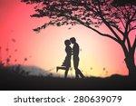 forbidden concept  romantic of... | Shutterstock . vector #280639079