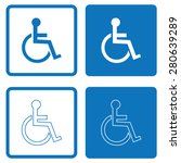 disabled handicap icon | Shutterstock .eps vector #280639289