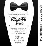 elegant vector black tie event... | Shutterstock .eps vector #280640894