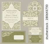classic baroque business cards... | Shutterstock .eps vector #280643750