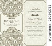antique baroque invitation ... | Shutterstock .eps vector #280643783