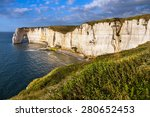 Falaise D'amont Cliff At...