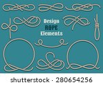set of rope design elements.... | Shutterstock .eps vector #280654256