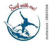 surf logo or emblem design....