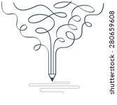 graphic design studio symbol.... | Shutterstock .eps vector #280659608