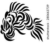 abstract fish exotic black and...   Shutterstock .eps vector #280663739