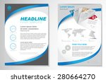 vector brochure flyer design... | Shutterstock .eps vector #280664270