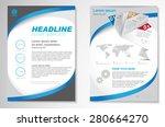vector brochure flyer design... | Shutterstock .eps vector #280664270