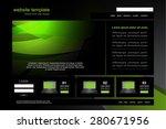 website design vector template | Shutterstock .eps vector #280671956