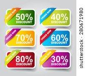 sale sticker | Shutterstock .eps vector #280671980