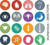 organ icon set. eps 10.   Shutterstock .eps vector #280674398