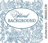 floral vector monochrome... | Shutterstock .eps vector #280681238