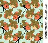 vector seamless colored fruit... | Shutterstock .eps vector #280686260