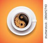 yin yang coffee cup  relax... | Shutterstock .eps vector #280692743