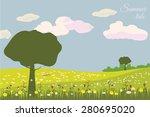 summer beautiful landscape ... | Shutterstock .eps vector #280695020