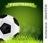 raster background for football... | Shutterstock . vector #280695530