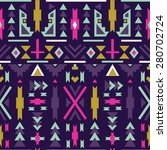 seamless colorful  ethnic ... | Shutterstock .eps vector #280702724