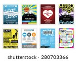 flyer poster collection 2 | Shutterstock .eps vector #280703366