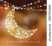 ornamental arabic moon. bokeh... | Shutterstock .eps vector #280704404