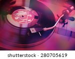 vintage turntable for vinyl lps | Shutterstock . vector #280705619