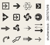 arrows icons  arrows icons set  | Shutterstock .eps vector #280707698
