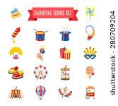 carnival fairgound and... | Shutterstock .eps vector #280709204