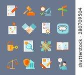 legal compliance deal... | Shutterstock .eps vector #280709504