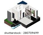 vector isometric cut of single... | Shutterstock .eps vector #280709699