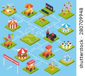 amusement park flowchart with... | Shutterstock .eps vector #280709948