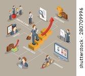 career flowchart with isometric ... | Shutterstock .eps vector #280709996