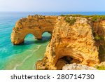 Rock Cliff Arches On Marinha...