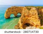 Rock Cliff Arches On Marinha...