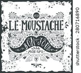 hand drawn vintage label with a ... | Shutterstock .eps vector #280716890