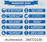 construction site mandatory... | Shutterstock .eps vector #280722230