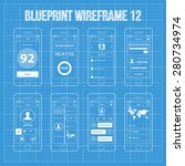 mobile app wireframe blueprint...