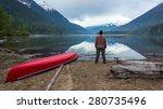 Beautiful Lake With Man...